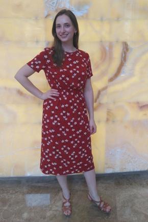 Отличное платье, но застежку пришлось придумывать другую