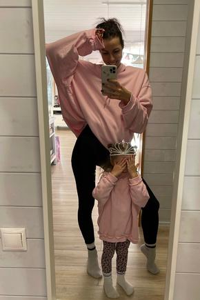 Сшила в розовом цвете своей малышке