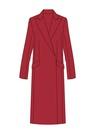"""Комплект """"Красный"""" для пальто Шарлотта"""