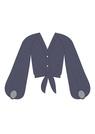 "Комплект ""Тёмно-синий"" (шёлк) для блузки Люси"