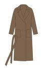"""Комплект """"Темный верблюд"""" для пальто Триш"""