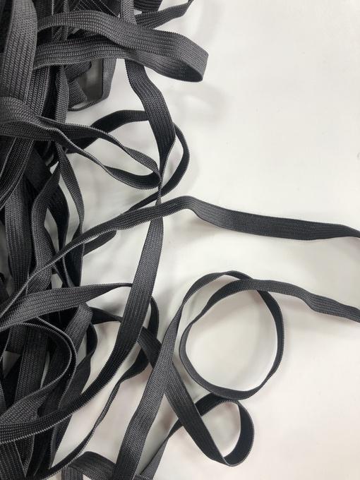Резинка вязаная, черная 10 мм