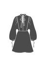 """Комплект """"Чёрный"""" (сорочечная) для платья Дороти"""