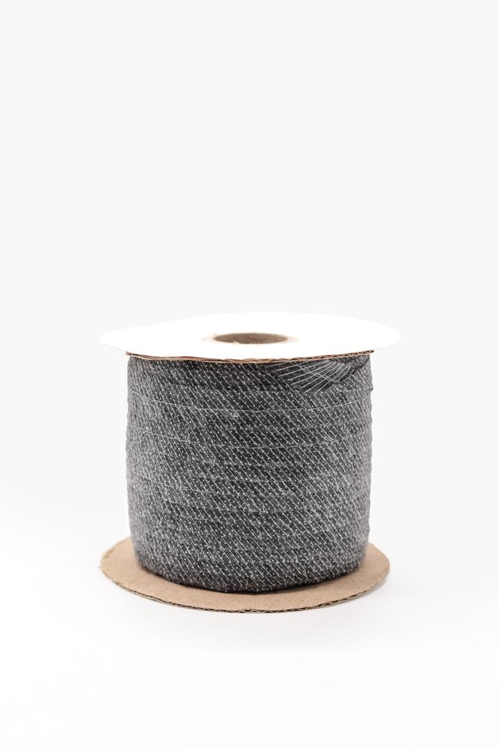 Лента клеевая нитепрошивная по косой, усиленная строчкой (серый)