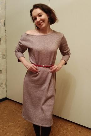 Уютное осеннее платье