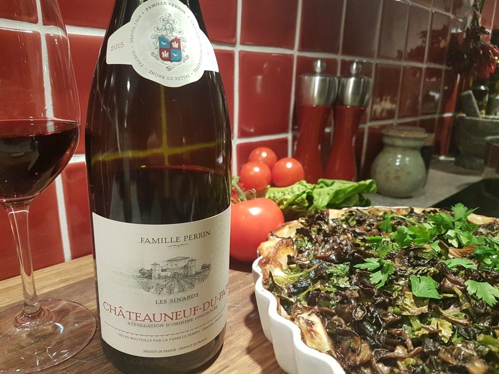chateauneuf-du-pape-les-sinards-till-rotfruktsgratang-med-svamptacke-vint-till-maten-vinbanken