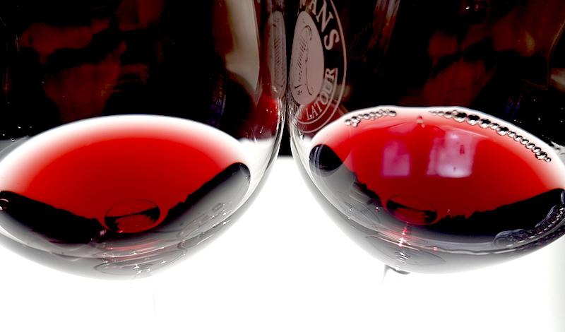 Röda viner från Italien i olika prisklass, till lamm