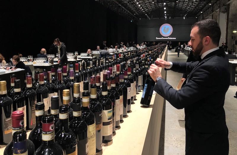 Chianti Classico årgångarna 2016-2019, vinveckan i Florens-Chianti Classico 2020 i Stazione Leopolda Foto Ursula Hellberg för Vinbanken