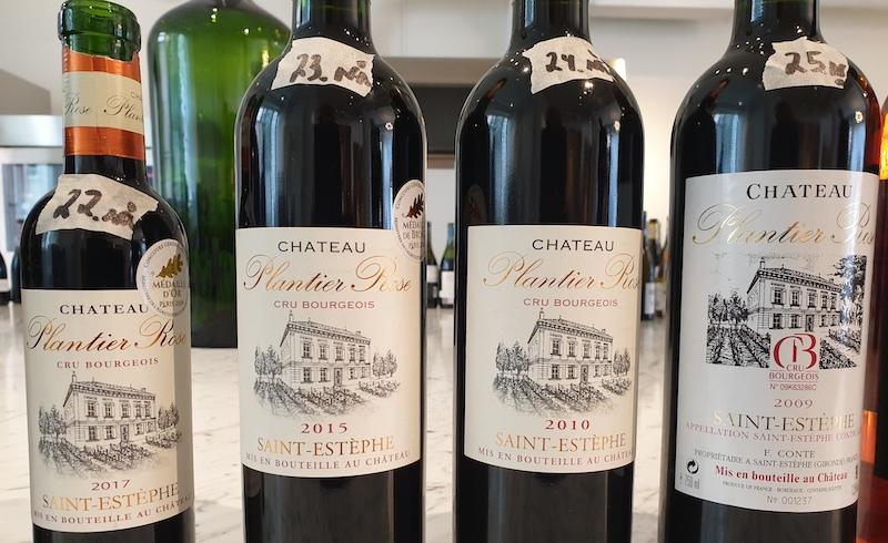 Minivertikal-med-Château-Plantier-Rose-i-Medoc-vinbanken