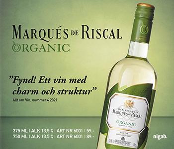 Riscal Rueda organic wine