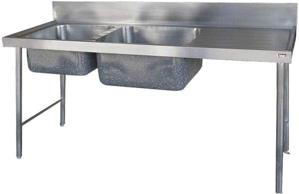 VPS-L and VPS-R Double Bowl Vegetable Sink