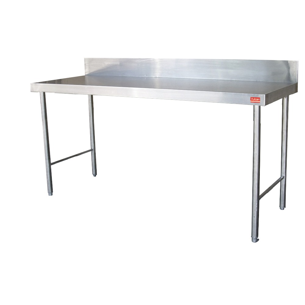 Stainless Steel Table with Splashback