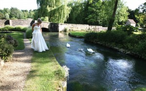 Riverside Bride at The Swan in Bibury