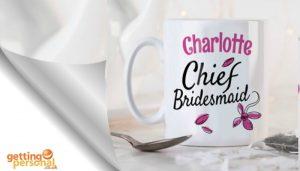 personalised mug - wedding gift for braidsmaid