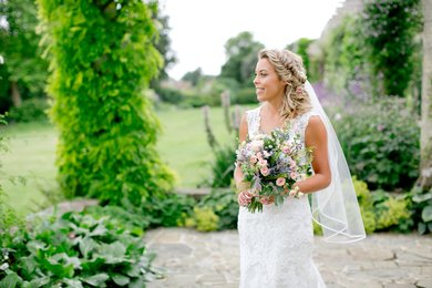 Wedding receptions at West Dean College and Gardens. Image credit Helen Cawte