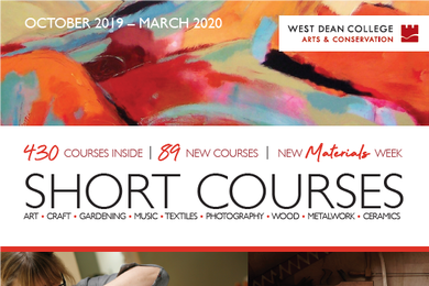 The cover of the winter 2019-2020 short course brochure