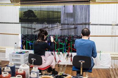 Eva Rothschild Tapestry at West Dean Tapestry Studio