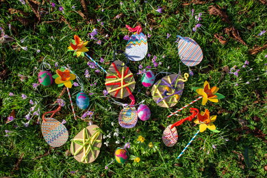 Easter eggs, trail and activities at West Dean Gardens near Chichestser