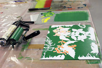 Printmaking with Mary Dalton at West Dean College