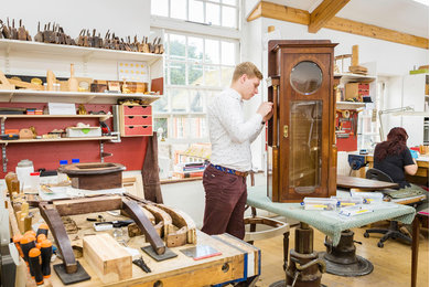 Furniture conservation student at West Dean College