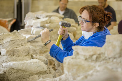 Conservation of masonry ruins course at West Dean College of Arts and Conservation