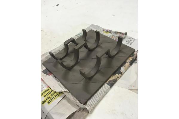 MFA alumnus Lotti Closs at Edinburgh Sculpture Workshop