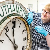 Conservation of Clocks student at West Dean College
