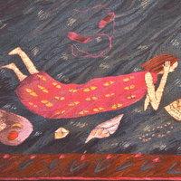 Lynne Curran tapestry Billet doux