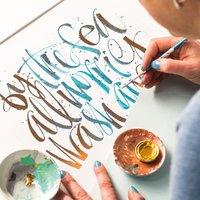 Kirsten Burke brush calligraphy