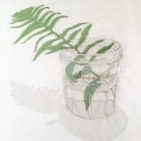 Emily Jo Gibbs textiles still life with nature theme