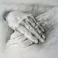 Sarka Darton drawing hands