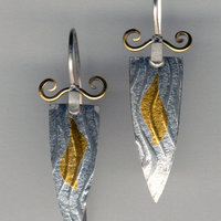 Sarah Macrae silver and gold earrings