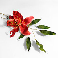 Anne Tomlin millinery silk flower lily