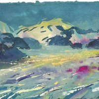 Frances Hatch painting immersive colour and place