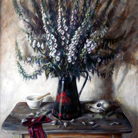George Popesco still life painting in oils