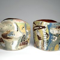 Jane Abbott inlaid ceramics
