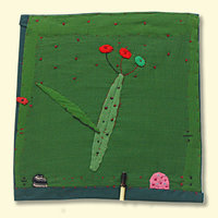 Janet Bolton making pictures with fabric and stitch