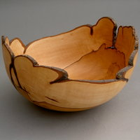 Dave Regester bowls from wet and seasoned wood