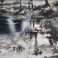 Maxine Relton ink drawing light and reflection