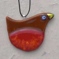 Martin Cheek fused glass Christmas decorations