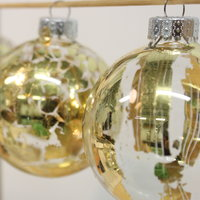 Judy Wetherall Gold gilded glass baubles
