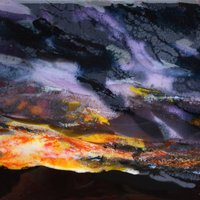 Claire Hall Landscapes and seascapes in fused glass