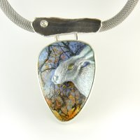 Joan MacKarell enamelling on silver