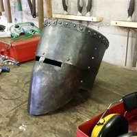 Graham Ashford medieval armouring 13th century helm