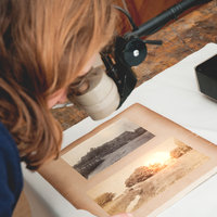 Preserving historic photos at West Dean College