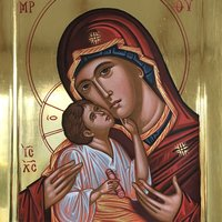 Peter Murphy Byzantine icon painting Madonna and Child