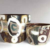 Jane Abbott Hand built ceramics with inlaid coloured clay
