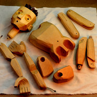 John Roberts Carve a simple wooden string puppet