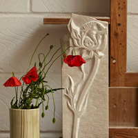 Jo Sweeting Relief carving in stone – plant forms