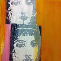Carole Waller Colour on fabric – screenprinting with heat transfer